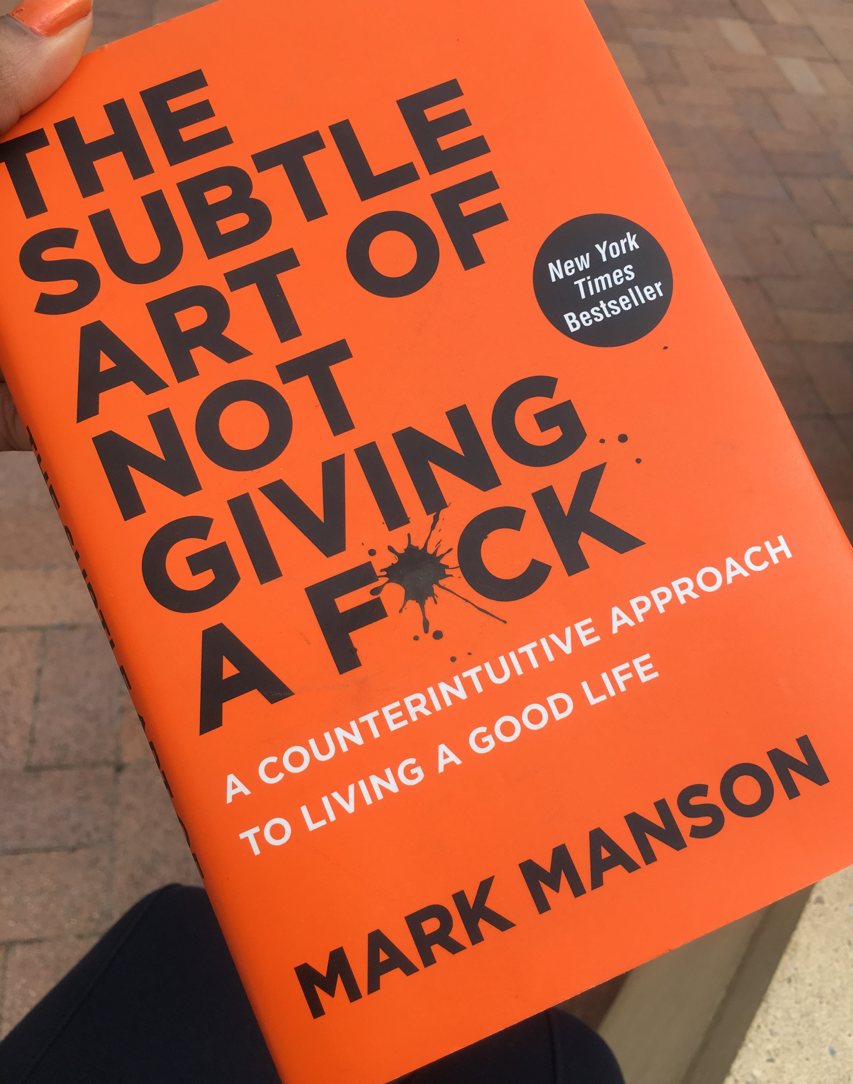The Subtle Art Of Not Giving A Fck By Mark Manson Wiring Library Diagram Car Boyo Stereo Avs3015 Buddhism Meets Snarky Sarcasm As Jugatti And I Read